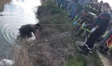 سحب جثة رجل من قعر خندق زراعي في المنصورة ونقلها الى المستشفى