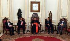 الراعي التقى وفدا قضائيا دوليا وتسلم الوثيقة النهائية للمؤتمر المسيحي العربي