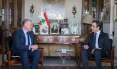 السفير الاسترالي في لبنان يزور معوّض مودّعًا