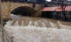 النشرة: طقس عاصف في حاصبيا وارتفاع منسوب نهر الحاصباني