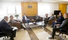وزير الاشغال التقى وفدا من نقابة المقاولين