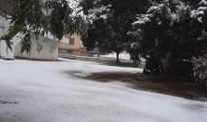 النشرة: رياح قوية وتدن في دراجات الحرارة مع تساقط للثلوج في حاصبيا