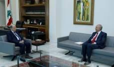 الرئيس عون استقبل الصفدي وعرض معه التطورات السياسية والاقتصادية الراهنة