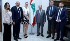 """الرئيس عون تبلغ من رئيسة """"ISSEP"""" في ليون وضع إمكانات المعهد بتصرف أكاديمية الإنسان للتلاقي والحوار"""