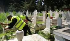 النشرة: فرق طوارئ بلدية صيدا واصلت رفع أضرار الأمطار وتنظيف الممرات في مقبرتي صيدا