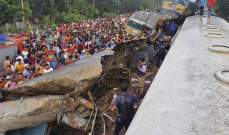 مقتل 15 شخصا وإصابة 58 آخرين نتيجة اصطدام قطارين شرق بنغلادش