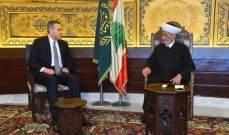 دريان التقى رئيس الحكومة المكلف مصطفى أديب