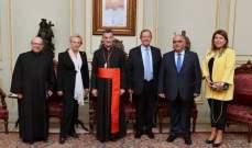 الراعي التقى النائبة الفرنسية ميشيل اليوت ماري ورئيس جامعة الروح القدس