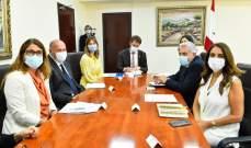 عكر التقت تشاستيناي ومادراسو وعرضت مع إريكسون لأهمية دعم السويد والمجتمع الدولي للبنان