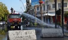 النشرة: الطريق الرئيسي في شارع رياض الصلح في صيدا مقفلة
