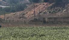 الجيش الإسرائيلي استأنف الحفريات ورفع السواتر قبالة متنزهات الوزاني