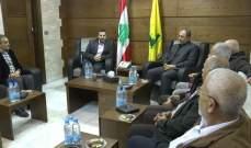 صفي الدين يلتقي وفد من مسؤولي الفصائل الفلسطينية في منطقة صور
