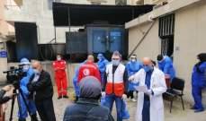 """مستشفى الهمشري أجرى فحوص """"PCR"""" لمخالطين في مخيمي البداوي ونهر البارد"""
