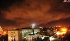 الدفاعات الجوية تتصدى لاهداف معادية في سماء العاصمة دمشق