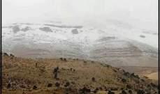 الثلوج غطت قمم جرد مربين في أعالي جرود الضنية على ارتفاع 2200م