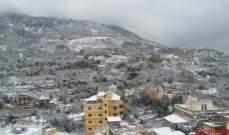 العاصفة ألحقت اضرارا في المزروعات في عكار وثلوج على ارتفاع 1300 متر