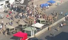 الجيش أبعد المتظاهرين عن الطريق العام في زوق مصبح