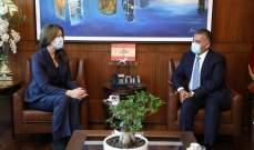 اللواء ابراهيم عرض مع السفيرة شيا نتائج زيارته إلى واشنطن