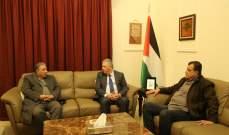 دبور عرض أوضاع المخيمات الفلسطينية مع مسؤول الجبهة الشعبية