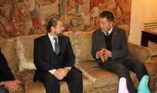 كرامي استقبل سفير الصين: غياب شبه كامل للدولة ومشاريعها عن طرابلس