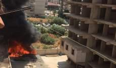 اندلاع حريق في احدى مستودعات السجاد عند البوليفار بطرابلس
