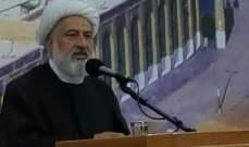 الشيخ الخطيب دعا الدول العربية والاسلامية الى الاقتداء بالتجربة الايرانية