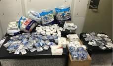 قوى الأمن: إحباط محاولة تهريب كمية كبيرة من الأدوية إلى مصر عبر المطار
