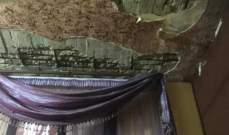 النشرة: نجاة عائلة فلسطينية من انهيار سقف منزلها في عين الحلوة