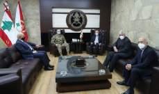 قائد الجيش بحث مع رئيس جامعة LAU تعزيز التعاون الأكاديمي بين الجامعة والمؤسسة العسكرية