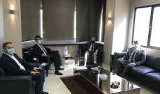 وزني التقى وفدا من كتاب العدل وبحث معهم في مشاريع مشتركة