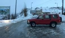 الدفاع المدني:انقاذ ستة مواطنين بينهم اربعة اطفال احتجزوا بسبب الثلوج بحراجل