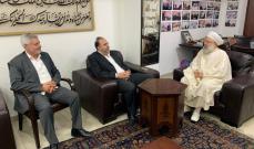 الشيخ حمود بحث مع رئيس مصلحة مياه لبنان الجنوبي الأوضاع المائية