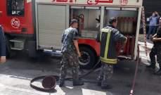 فوج اطفاء بيروت أخمد حريقا اندلع في شقة سكنية في منطقة الحمراء