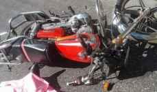 سقوط 3 جرحى بإنزلاق دراجة نارية في سير الضنية