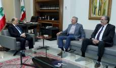 الرئيس عون عرض مع ارسلان الاوضاع العامة في البلاد