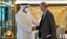 وزير خارجية قطر بحث مع المبعوث الأميركي إلى إيران بالتطورات في طهران