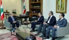 الرئيس عون عرض الأوضاع العامة مع السفير المصري