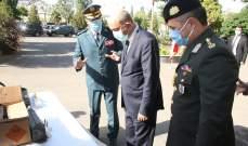 الجيش اللبناني تسلم كمية من الذخيرة كهبة من السلطات التركية