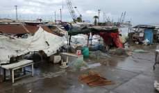 العاصفة شلت حركة الملاحة في مرفأ صيدا