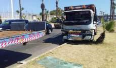 النشرة: جريح في حادث سير عند مدخل صيدا الشمالي