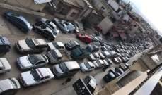 ازدحام خانق للسيارات على طريق الضنية بعد تحويل السير المتجه من طرابلس إلى المنية وعكار
