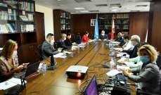 المشرفية ورشدي ناقشا المراجعة الاستراتيجية لخطة لبنان للاستجابة للأزمة السورية
