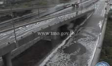 التحكم المروري: لتوخي الحذر على اوتوستراد النقاش بسبب تساقط كمية من البرد