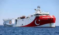 """سفينة """"الريس عروج"""" التركية للتنقيب غادرت ميناء أنطاليا إلى شرق المتوسط"""