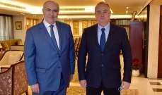 مخزومي: بحثت مع سفير روسيا أهمية تعزيز العلاقات اللبنانية الروسية