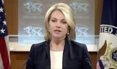 الخارجية الاميركية: تدين التصعيد العسكري للنظام السوري جنوب غربي سوريا