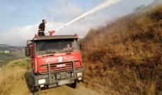 الدفاع المدني يخمد حريقاً شب في قصب عند مفترق الهري البترون