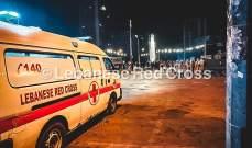 الصليب الأحمر: نقل 11 جريحا للمستشفيات ومعالجة 63 ميدانيا في طرابلس