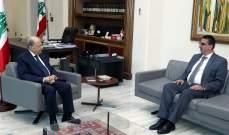 الرئيس عون يعرض مع الحجار الخطوط العريضة لعمل وزارة الشؤون الاجتماعية