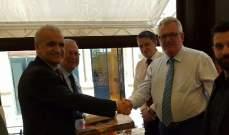 حمد اولم على شرف نائب حاكم مينسك وسفير بيلا روسيا في لبنان